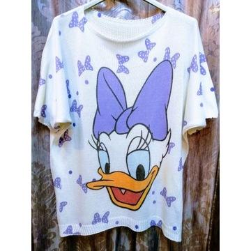 Daisy cienki sweter Disney lila liliowy kaczka