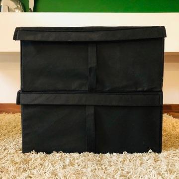 Pudełka duże IKEA BODO 2 szt. materiałowe sztywne