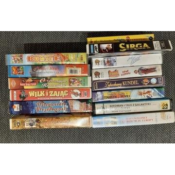 kolekcja bajek i filmów na VHS
