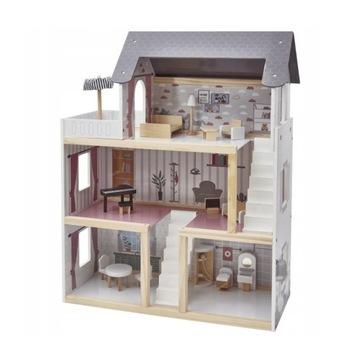 NOWY drewniany domek dla lalek ELEFUN