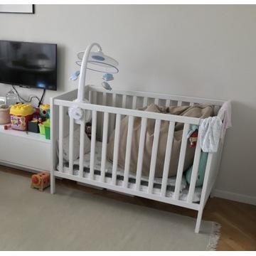 Łóżeczko dziecięce , białe, 60/120 cm, ikea