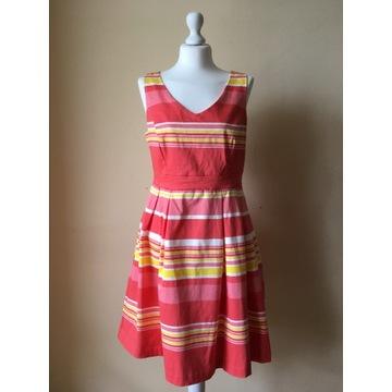 Sukienka midi Orsay rozkloszowana retro 42 M