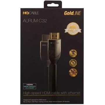 Przewód HDMI Aurum 32 Gold high speed 3.2m + adapt
