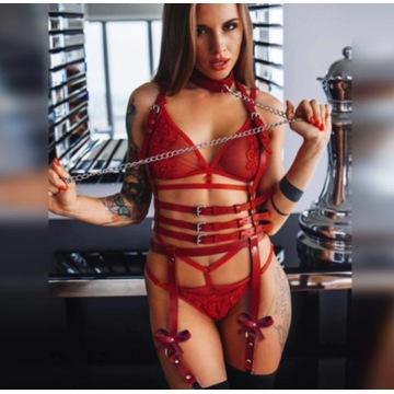 BDSM Bielizna erotyczna uprząż harnessy sexy biust