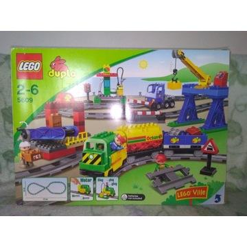 Lego Duplo 5609 pociąg towarowy + dźwig