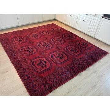 Piękny orientalny wełniany dywan Afghan 220x250cm