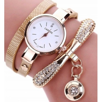 Damski zegarek z cyrkoniami