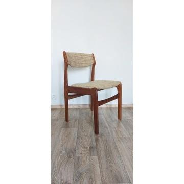vintage tekowe krzesło duński design