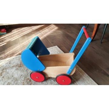 Drewniany Wózek łóżeczko dla lalek łóżeczko Gratis