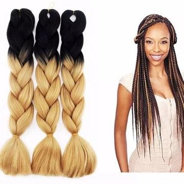 Włosy syntetyczne, Warkocze Jumbo, Warkocze afryka