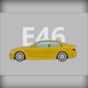 Plakat BMW 3 (M3 E46) 50x70cm  prezent