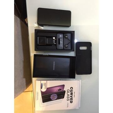 Samsung Galaxy S10e128GB Prism Black + etui + szyb