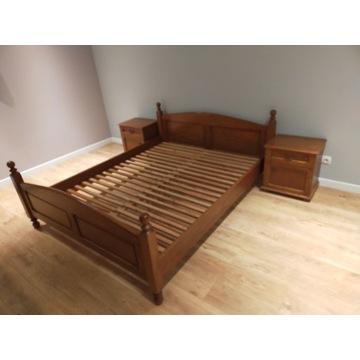sypialnia: łóżko, komoda ,szafki nocne