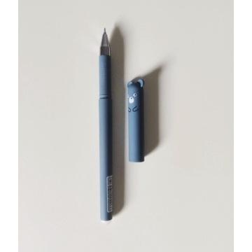 Długopis zmazywalny z gumką niebieski miś