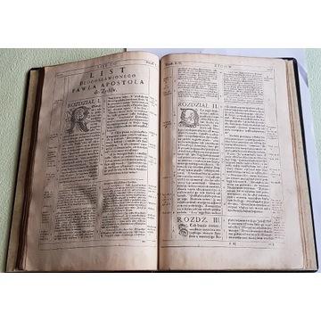 Biblia Wujka 1599 I wyd. Pismo Święte - Listy apos