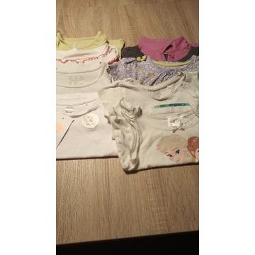 Bluzeczki bluzki t-shirty 8 sztuk 86rozm