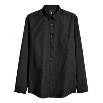 NOWA 38 M H&M koszula męska czarna kołnierzyk