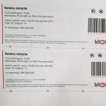 Bilety Nerwica natręctw teatr IMKA 13.03  pt 19.00