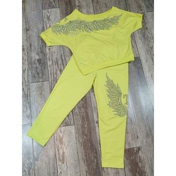 Dres komplet damski limonka ze skrzydłami TATU