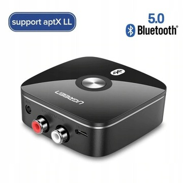 UGREEN Adapter Odbiornik Bluetooth 5.0 RCA AptX LL