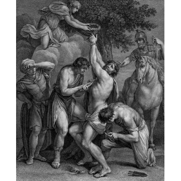 A. Carracci - akwaforta 1786, Święty Bartłomiej