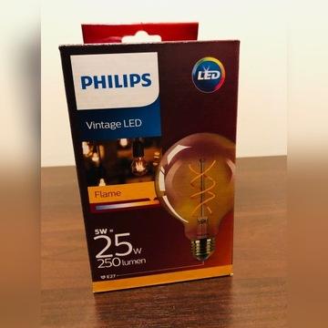 Philips Led żarówka Vintage E27 G93 5W 820 Złoty