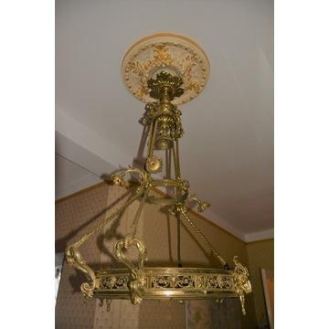 Piękna stara lampa wisząca ANTYK