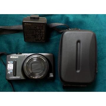 Nikon Coolpix S9500 + Futerał + Karta