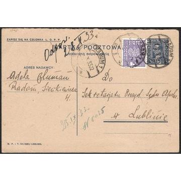 Cp 049.IA + Fi 251 s.XI.1931 h.G Radom - Lublin