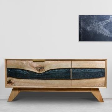 Ręcznie robiona drewniana komoda