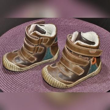 Buty zimowe skóra COOLCLUB r.22 (dł. wkładki 13cm)