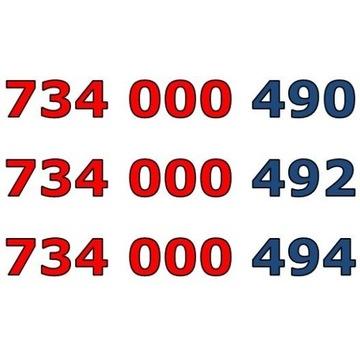 734 000 49x ŁATWY ZŁOTY NUMER STARTER x 3