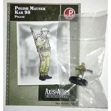 Axis & Allies figurka 15mm polskiego żołnierza
