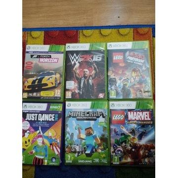 Xbox 360 gry: FIFA,Minecraft, Just Dance