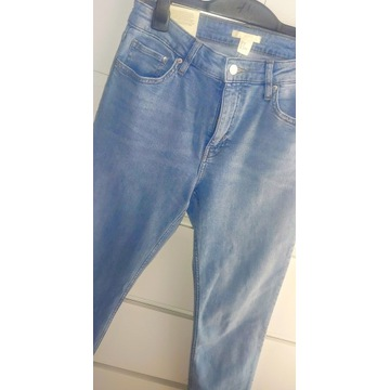 Jeansy H&m slim regular waist rurki nowe r. 40