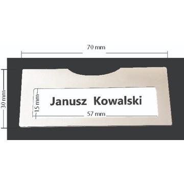 Kieszonka na  identyfikator z okienkiem 70x30 mm