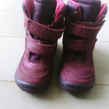 Zimowe buciki Ecco, gora-tex, skórzane r.24