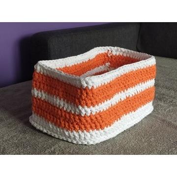 Koszyk ze sznurka bawełnianego, hand made szydełko
