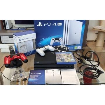PS4 Pro 1T PlayStation Pełny zestaw 2 pady + fifa