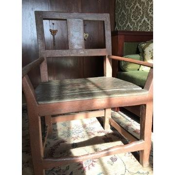 Fotel kilkuset letni antyk unikat ręcznie robiony