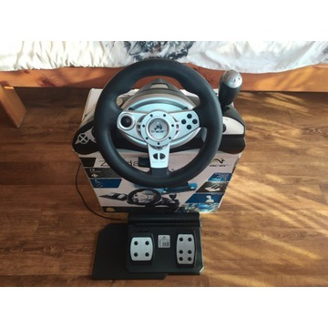 Kierownica Tracer Zonda PC/PS2/PS3 + PEDAŁY Czarna