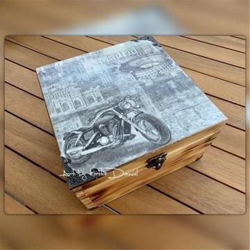 Skrzyneczka / pudełko MOTOCYKL