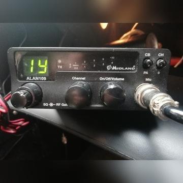 CB Radio Alan 109 + 2 anteny + SWR
