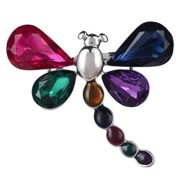 Broszka Vintage motyl z kryształami