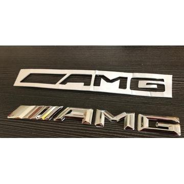 AMG Emblemat napis na klapę Mercedes chrom