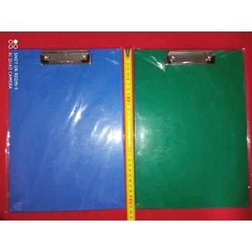 Deska A5 PVC z klipem i okładką 2szt clipboard