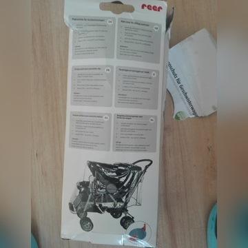 Folia przeciwdeszczowa na wózek podwójny,