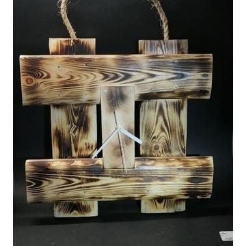 Zegar z drewna Rękodzieło Glimmer