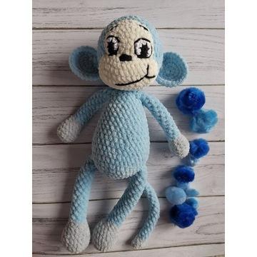 Małpka szydełkowa maskotka na szydełku handmade