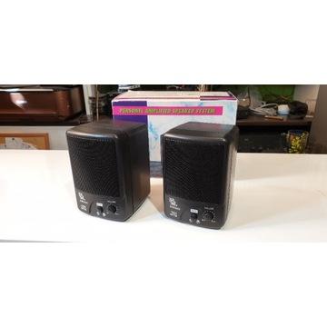 Kolumienki aktywne MW6882, stereo, nowe, retro
